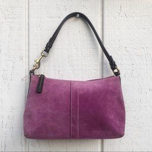 Coach Suede Purple Plum Color purse